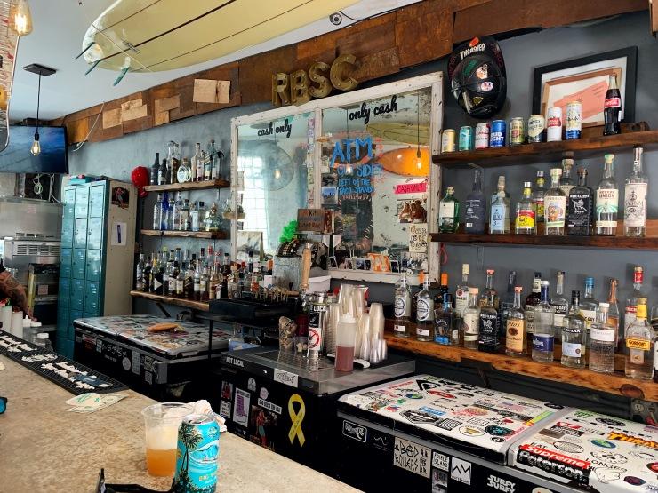 Rockaway Beach Surf Club bar