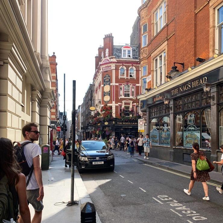 A narrow side street in London