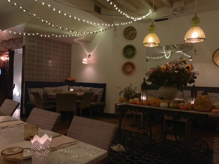 Inside of Shuka's dining room