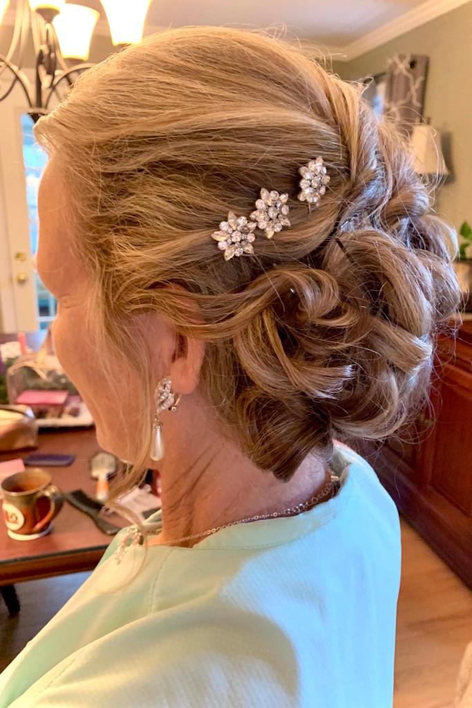 Mrs. Braun's wedding updo