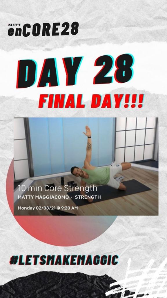 Day 28 screenshot of Matty's enCORE28 challenge